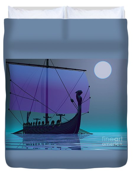 Viking Journey Duvet Cover by Corey Ford