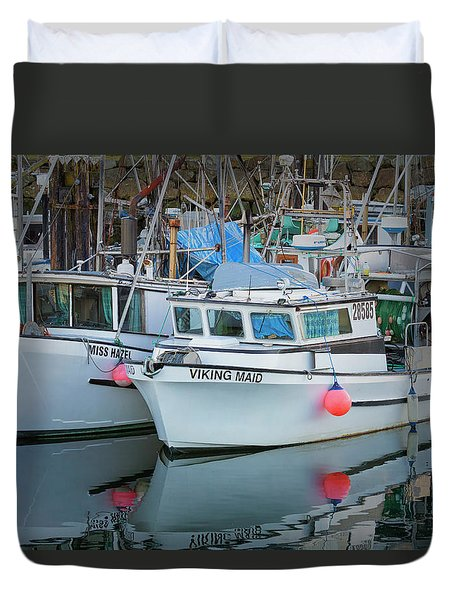 Duvet Cover featuring the photograph Viking Maid by Randy Hall