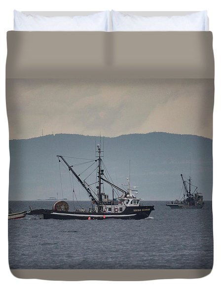 Viking Sunrise Duvet Cover