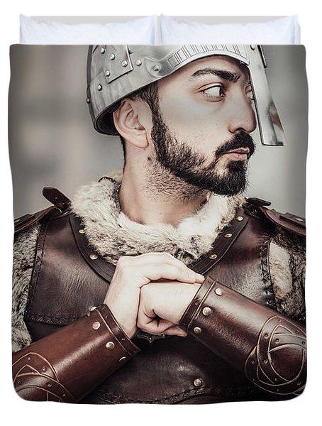Viking Warrior Duvet Cover