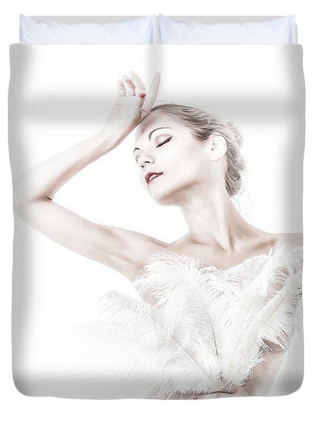 Viktory In White - Feathered Duvet Cover