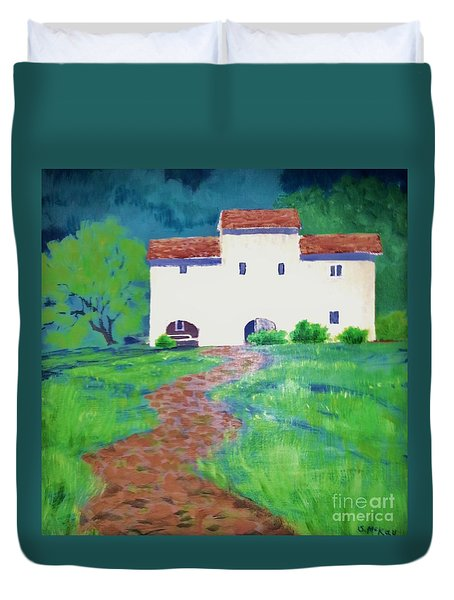 Villa In Tuscany Duvet Cover
