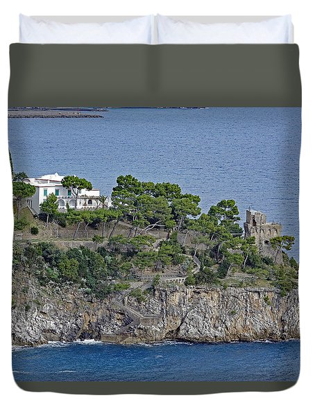 Villa Owned By Sophia Loren On The Amalfi Coast In Italy Duvet Cover
