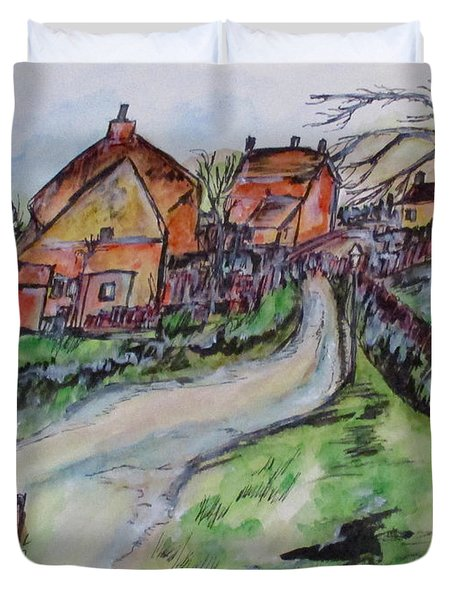 Village Back Street Duvet Cover