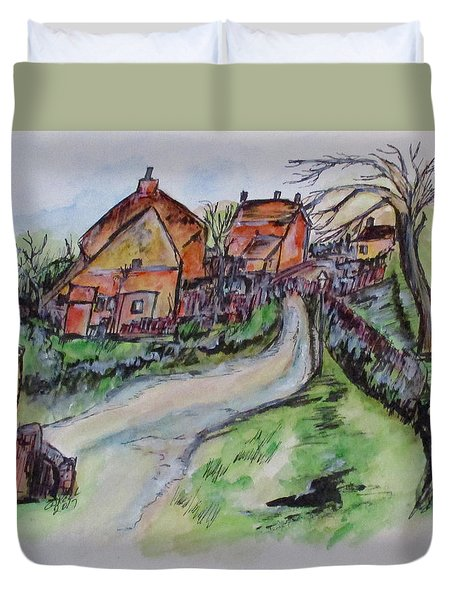 Village Back Street Duvet Cover