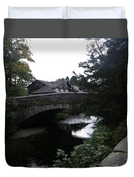 Village Bridge Duvet Cover
