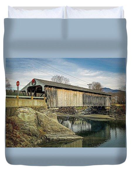 Village Bridge Duvet Cover