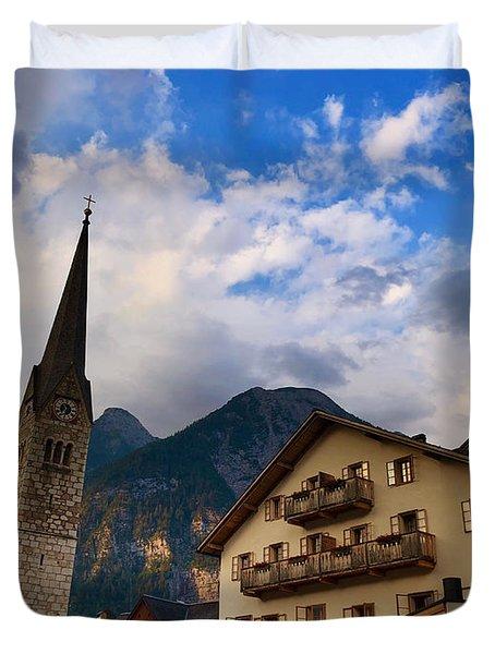 Village Hallstatt Duvet Cover