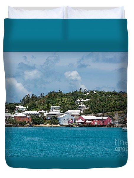 Village In Bermuda Duvet Cover