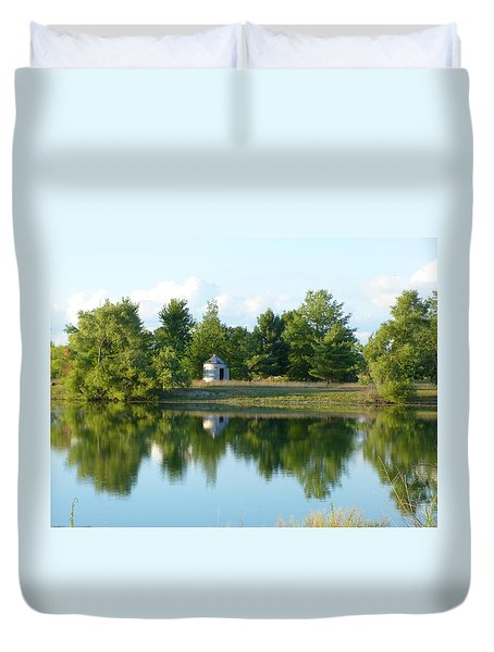 Village In Ohio Duvet Cover by Donald C Morgan