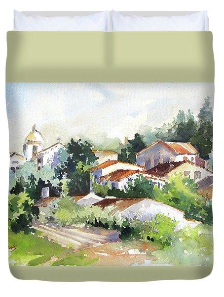 Village Life 5 Duvet Cover by Rae Andrews