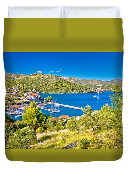 Village Of Marina Bay View Duvet Cover by Brch Photography