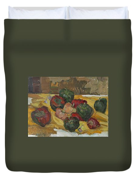 Village Peppers Duvet Cover