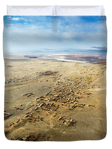 Village Toward Amu Darya River Duvet Cover