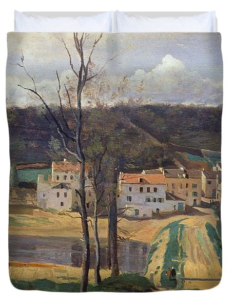 Ville Davray Duvet Cover by Jean Baptiste Camille Corot