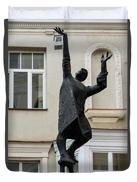 Vilnius Lamplighter Duvet Cover