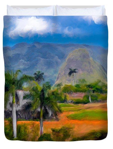 Vinales Valley. Cuba Duvet Cover