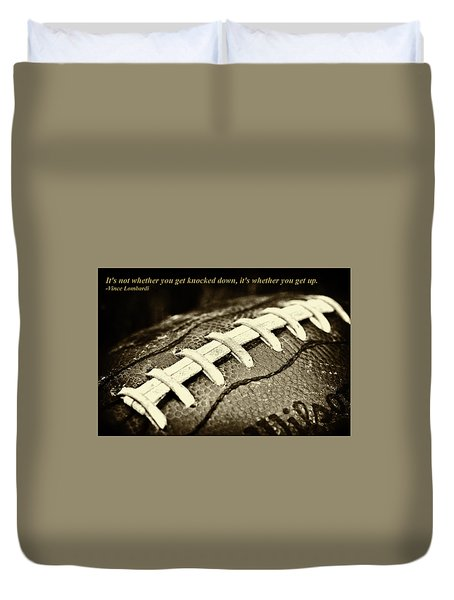 Vince Lombardi Quote Duvet Cover by David Patterson