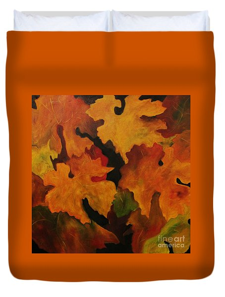 Vine Leaves Duvet Cover by John Stuart Webbstock