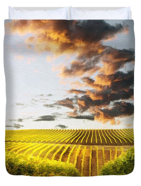 Vineard Aglow Duvet Cover