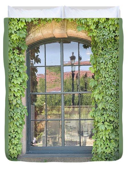 Vined Window II Duvet Cover