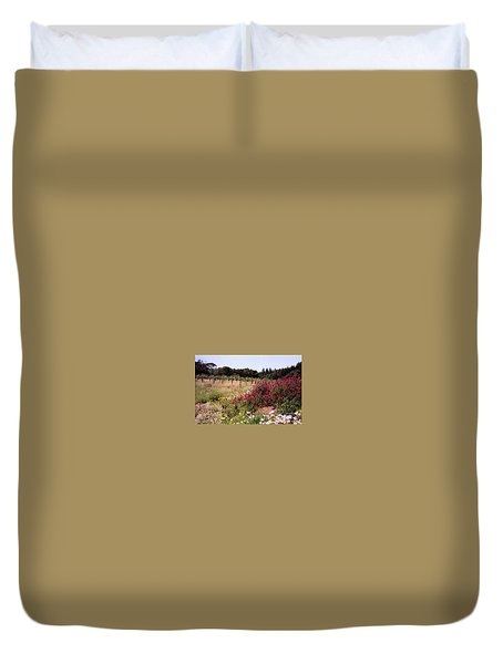 vines and flower SF peninsula Duvet Cover