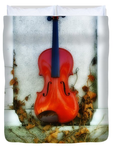 Vines And Violin Duvet Cover by Bill Cannon