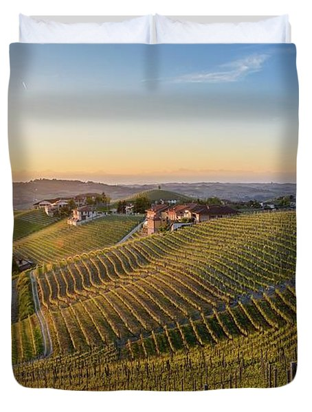 Vineyard At Barbaresco, Italy Duvet Cover