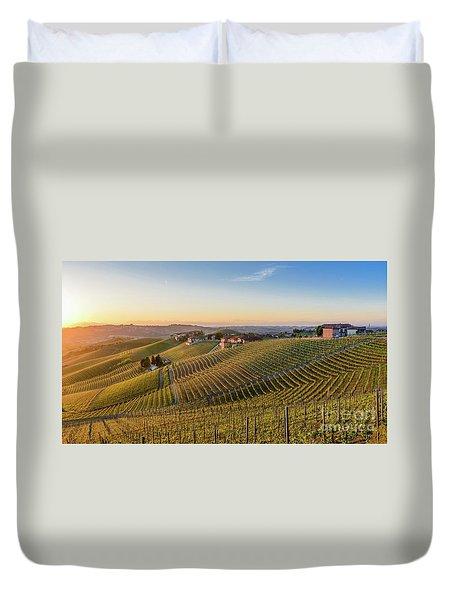 Vineyard At Barbaresco, Italy Duvet Cover