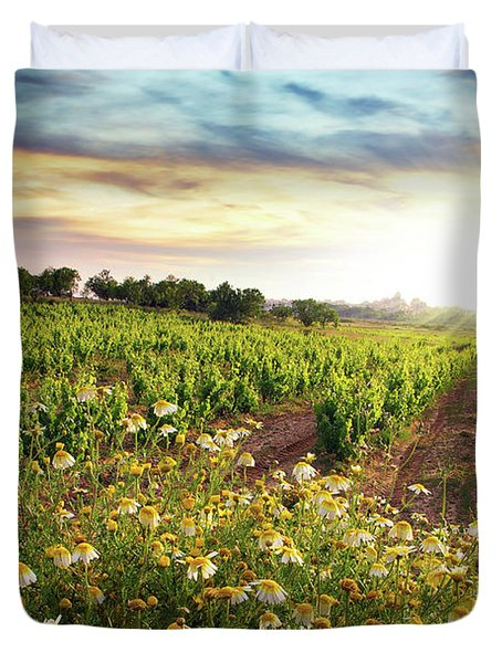 Vineyard Duvet Cover by Carlos Caetano