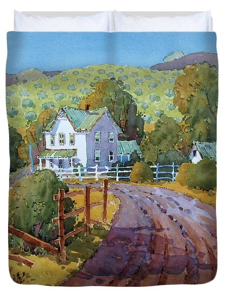 Vineyard Farm In Cambria Duvet Cover