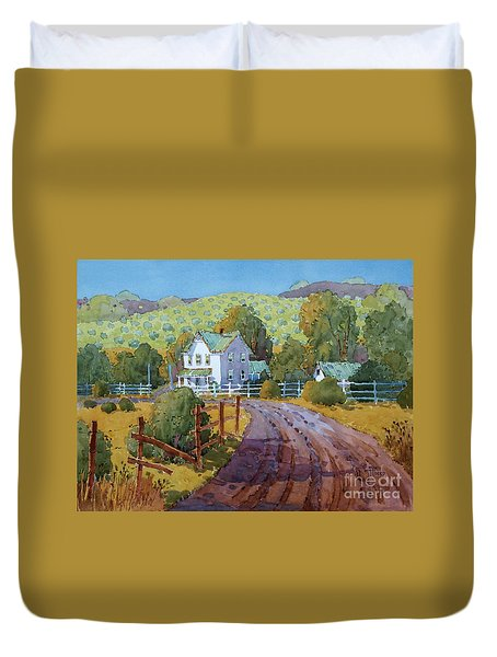 Vineyard Farm In Cambria Duvet Cover