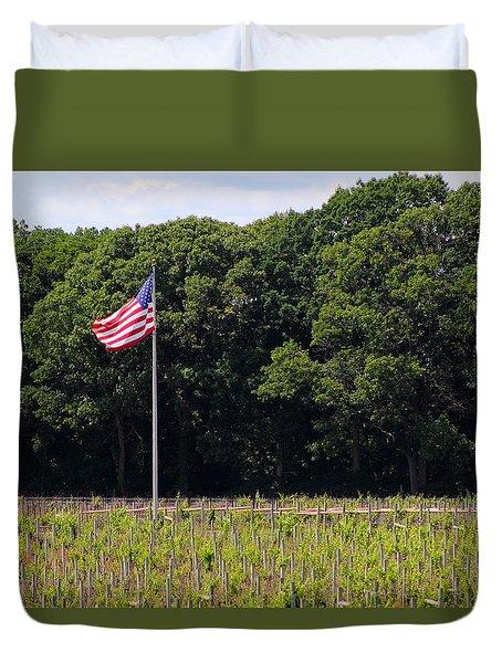 Vineyard Flag Duvet Cover