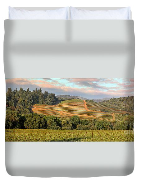 Vineyard In Dry Creek Valley, Sonoma County, California Duvet Cover