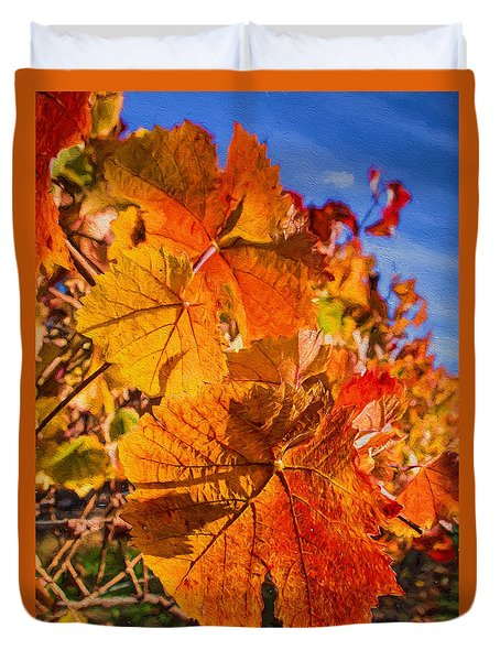 Vineyard - Late Fall Color Duvet Cover