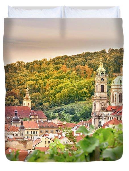 Vineyard Of Prague Duvet Cover