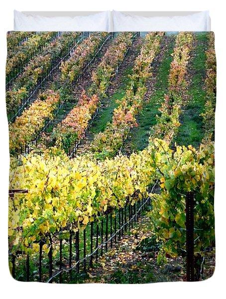 Vineyards In Healdsburg Duvet Cover by Charlene Mitchell