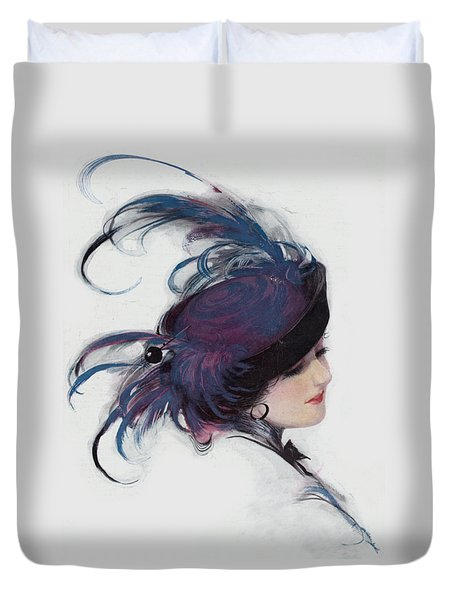 Vintage 1914 Fashion Duvet Cover