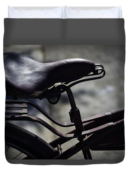 Vintage 1933 Elgin Bicycle Seat Duvet Cover