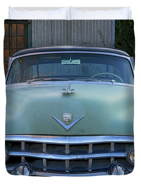 Duvet Cover featuring the photograph Vintage 1950s Cadillac by Gigi Ebert
