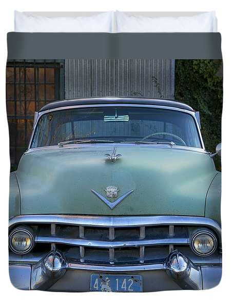 Vintage 1950s Cadillac Duvet Cover