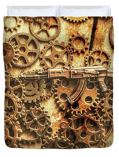 Vintage Ak-47 Artwork Duvet Cover