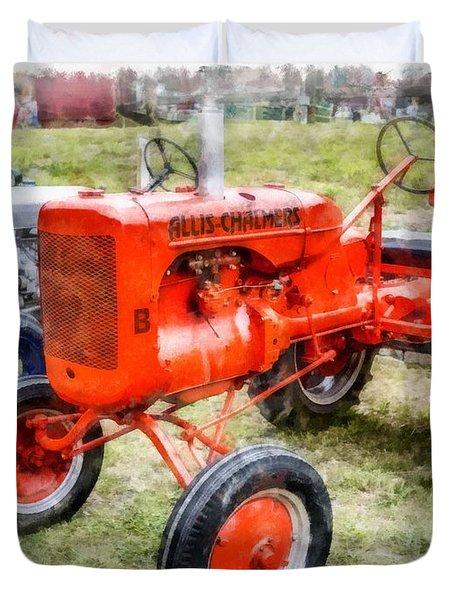 Vintage Allis-chalmers Tractor Watercolor Duvet Cover