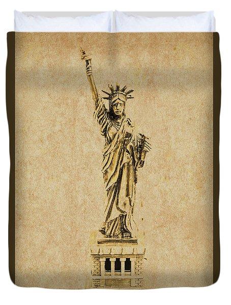 Vintage America Duvet Cover