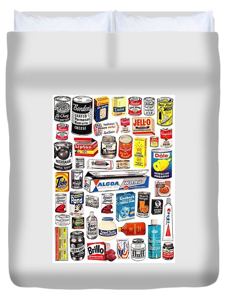 Vintage American Brands Duvet Cover