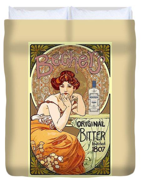 Vintage Art Nouveau Bechers Original Bitter 1807 Duvet Cover