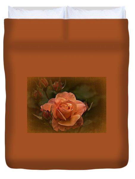 Vintage Aug Rose Duvet Cover