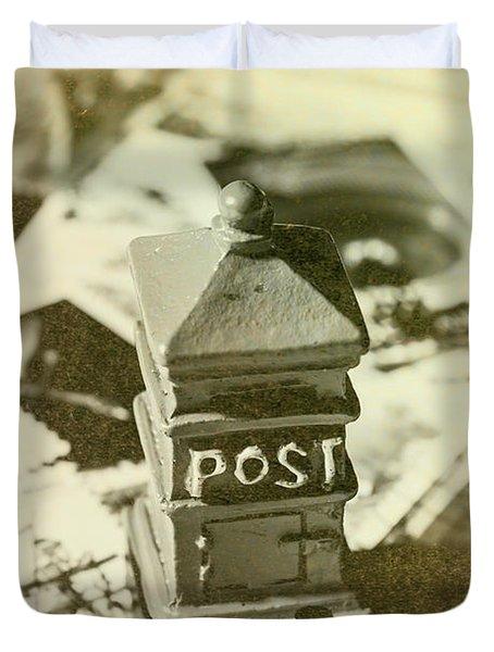 Vintage Australian Postage Art Duvet Cover