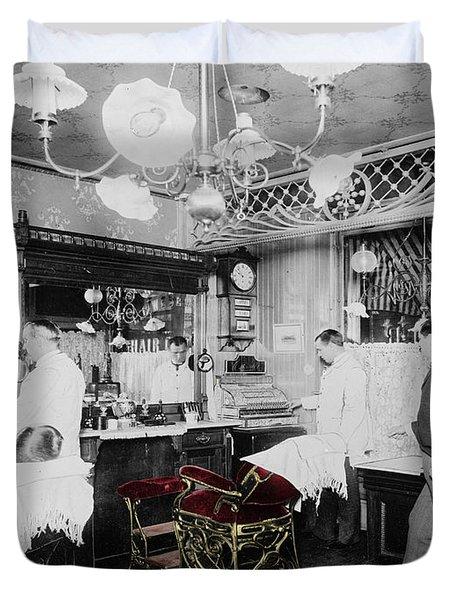 Vintage Barbershop 4 Duvet Cover