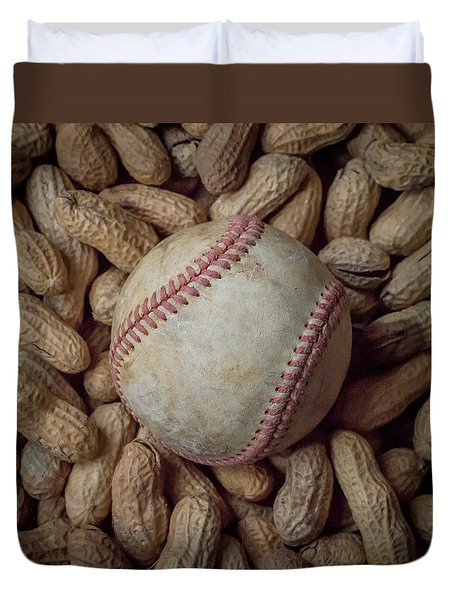 Vintage Baseball And Peanuts Square Duvet Cover